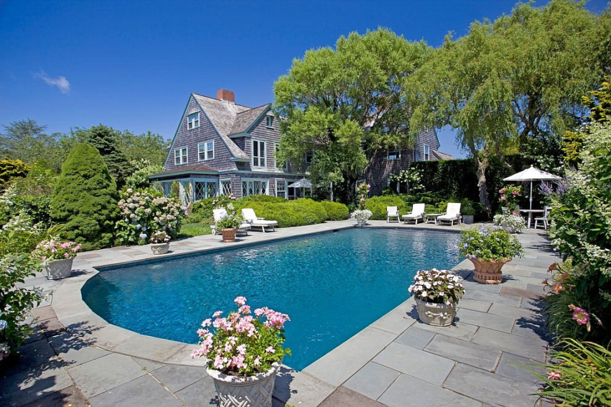 Swimming pool at Grey Gardens Estate