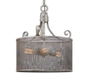 Best coastal cottage country drum pendant light