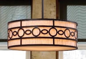 Best mid-century drum pendant light