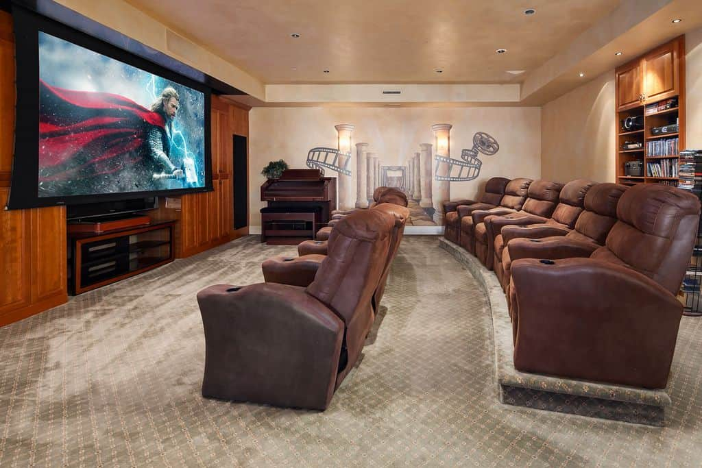 Home Theater Rooms Design Ideas design ideas modern minimalist home theater living room home cinema dedicated theater rooms media rooms span new home theater Source Zillow Digs