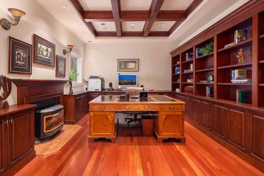 100 Home Offices With Hardwood Floors Photos Home