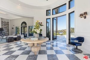 Foyer to celebrity Kylie Jenner's Beverly Hills mansion.
