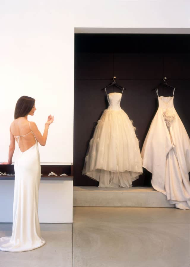 Monique L'Huillier Boutique showcases not just beautiful gowns but also its stunning interior
