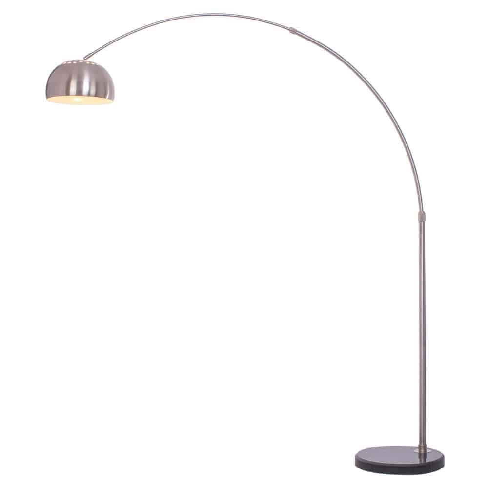 Arcing floor lamp