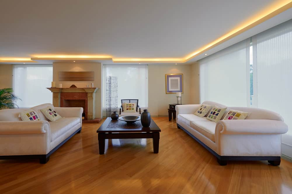 Bamboo flooring in living room
