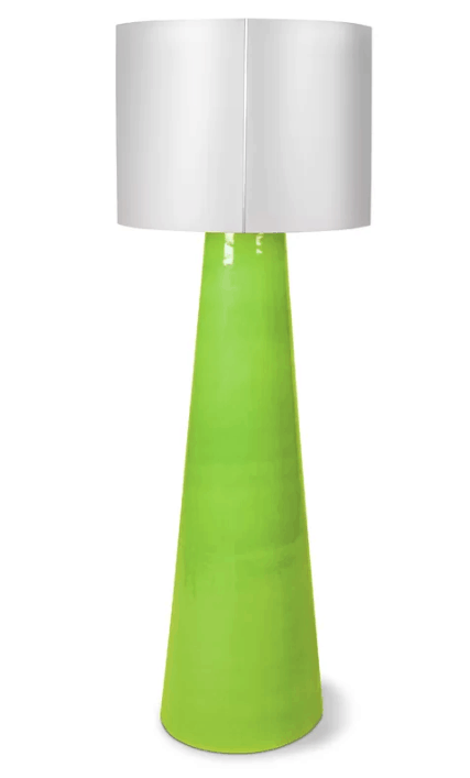 Ceramic base floor lamp