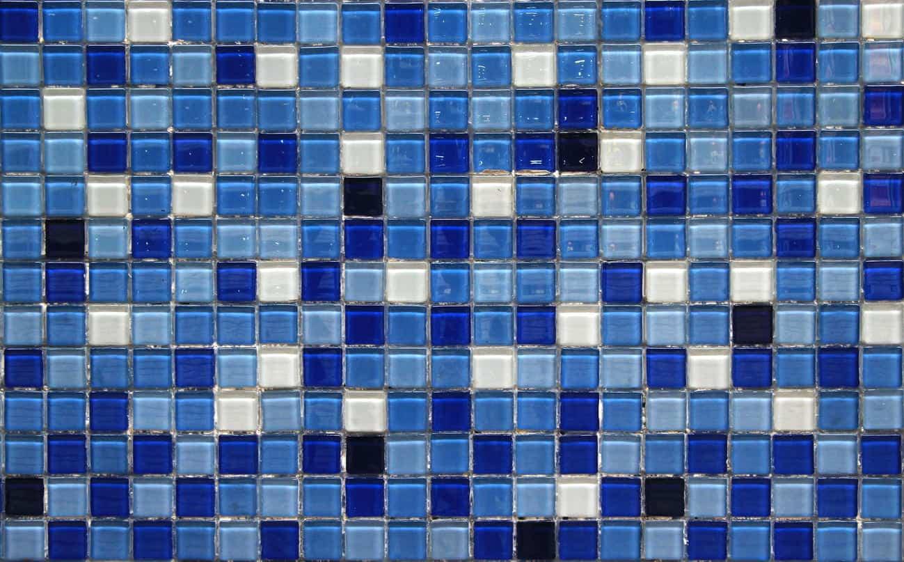 Glass tile for kitchen floor