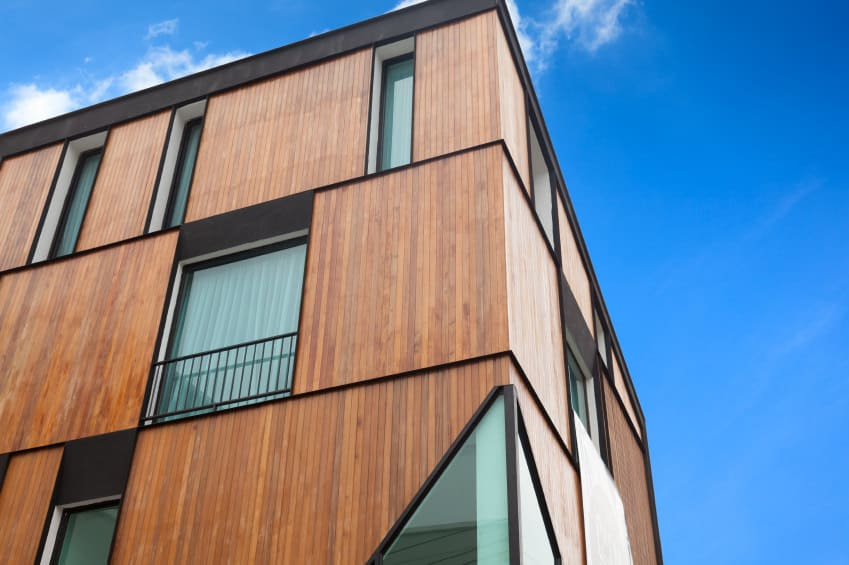 House with vertical wood boarding