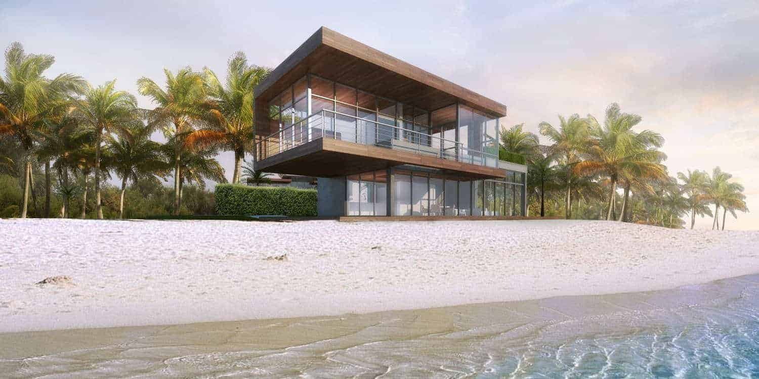Dramatic Beachside Duo Designed by Hughes and Umbanhowar Architects