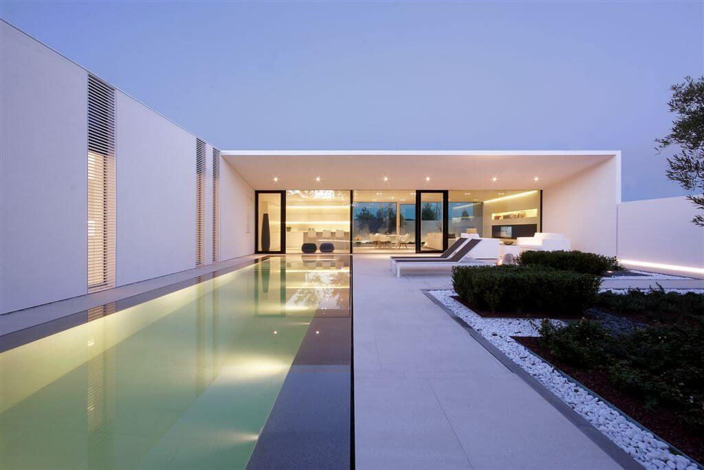 Jesolo Lido Pool Villa Custom Home Design by JM Architecture