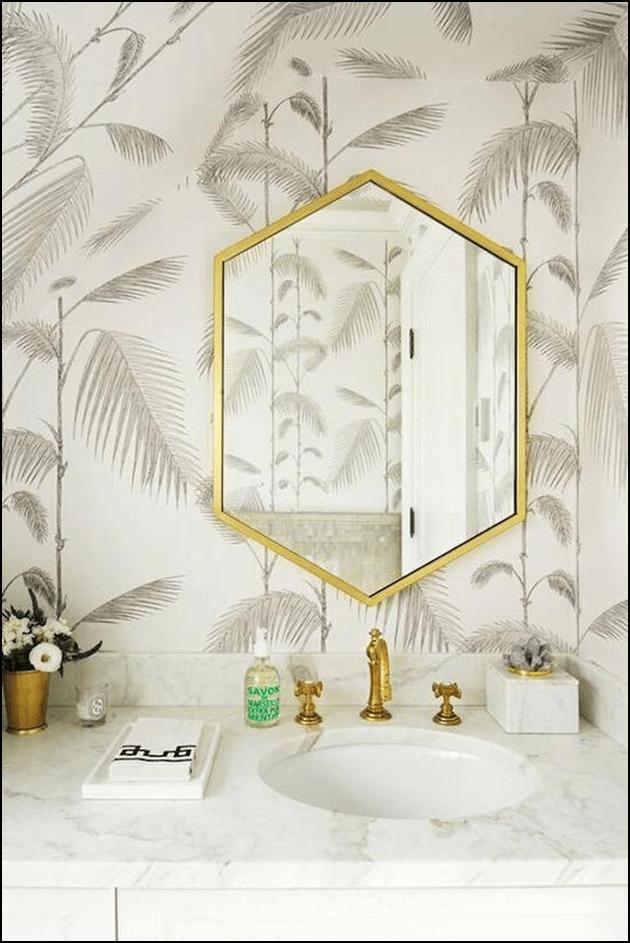Hexagon Bathroom Mirrors