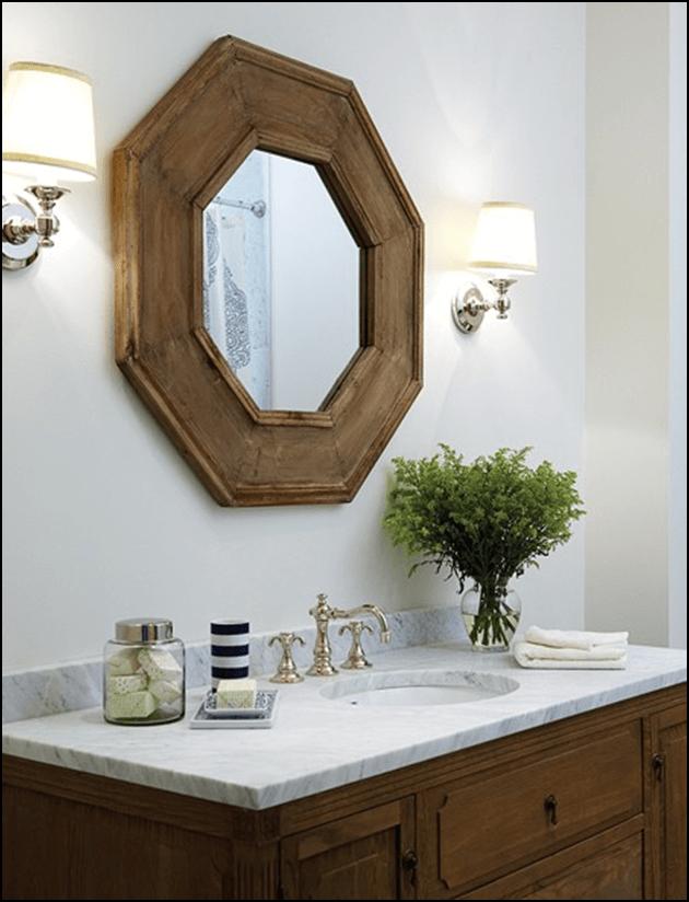 Octagon Bathroom Mirrors