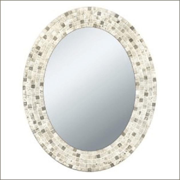 Stone framed mirror