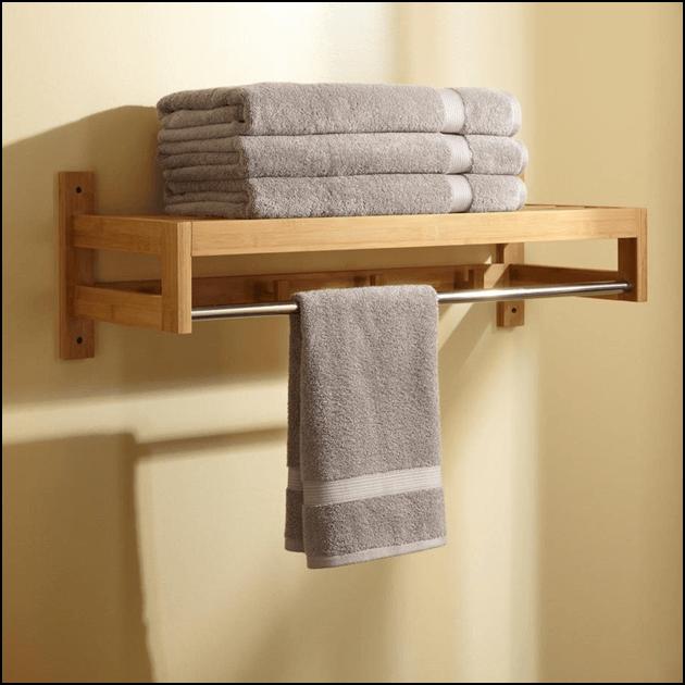 Wall mounted towel rack