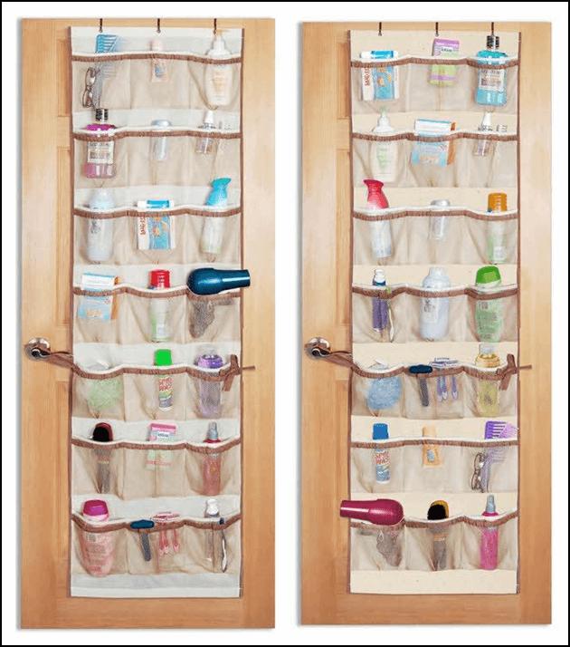 Door organizer for bathroom storage