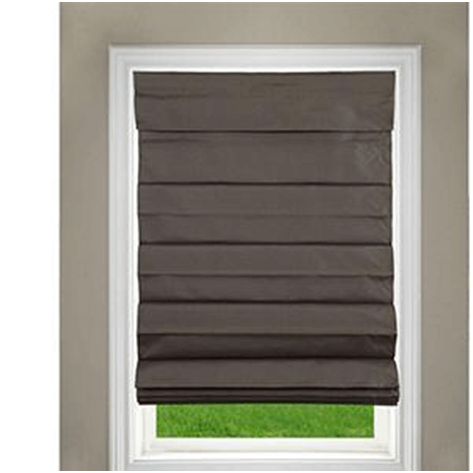 Dark brown Roman shades
