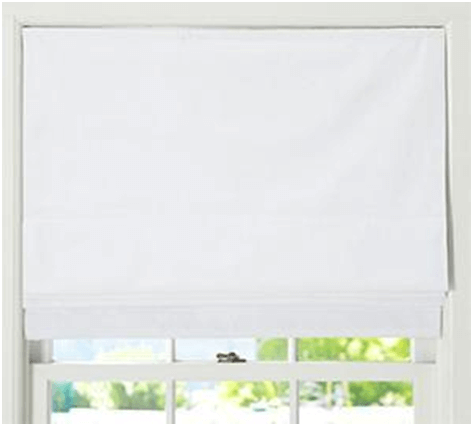 Natural fabric window covering