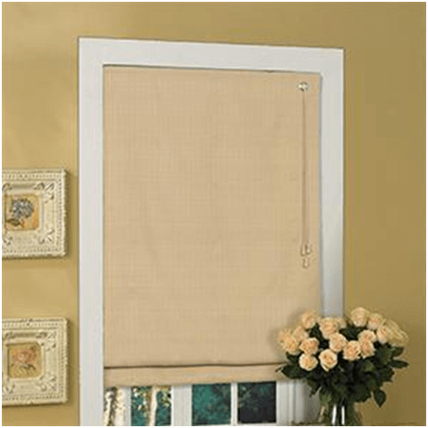 synthetic fabric window covering