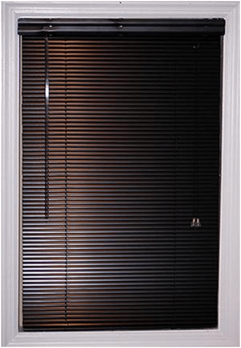 Dark brown micro blinds