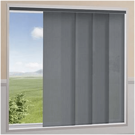 Gray Panel Blinds