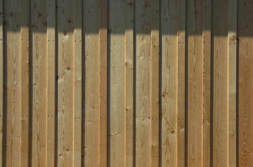 Board and batten house siding example.