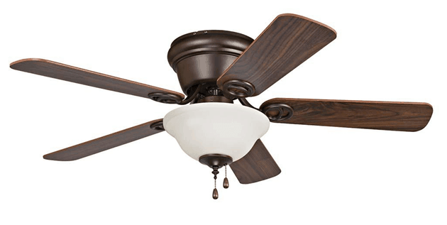 Ceiling fan with bowl light