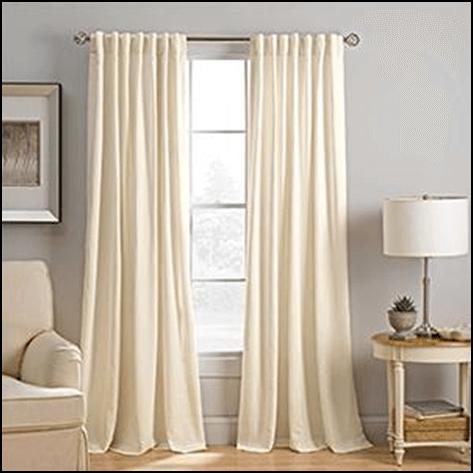 hidden tab curtain
