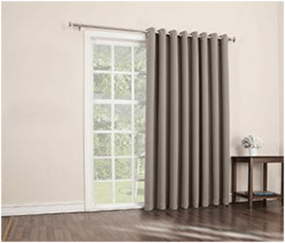 single panel curtain