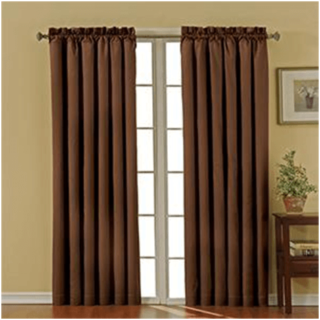 floor-length curtain