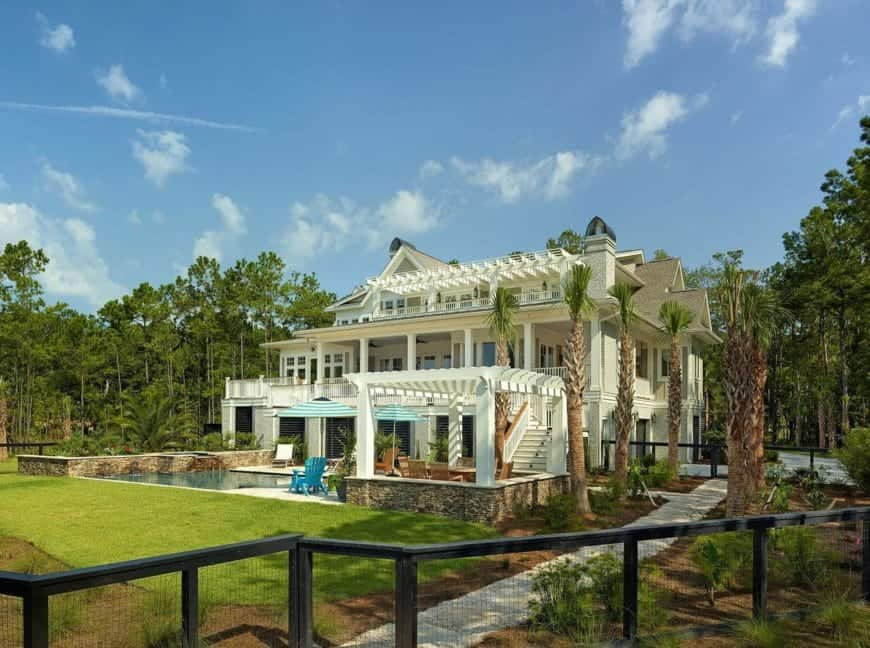 Courtly Elevated Daniel Island Marshfront Home by DLB Custom Home Design