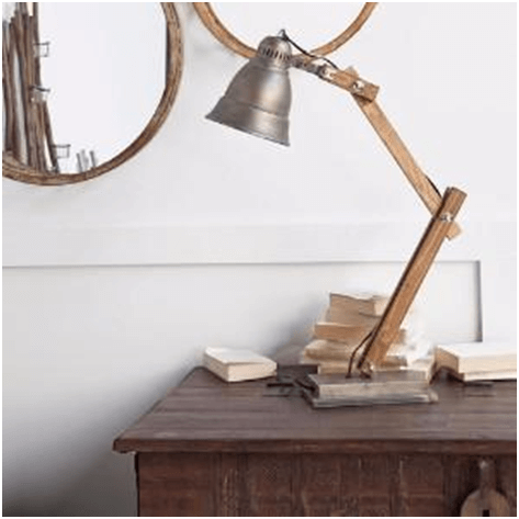 Rustic desk lamp