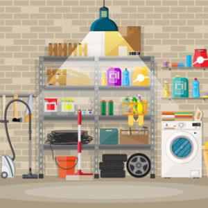 Garage storage ideas - illustration