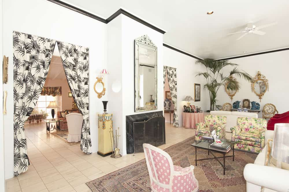Example of eclectic living room home decor.