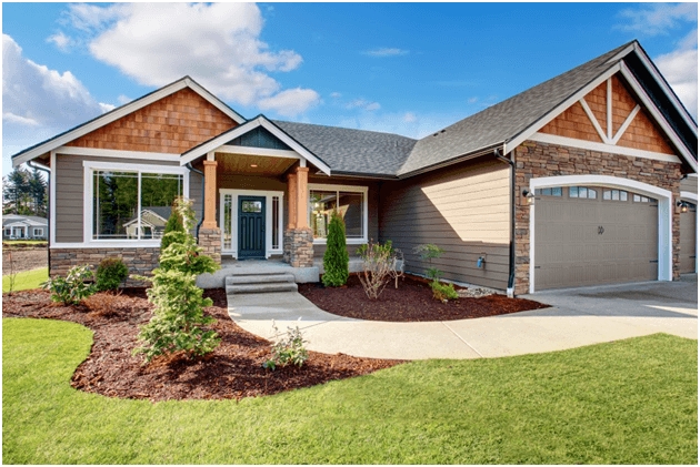 House with engineered wood siding