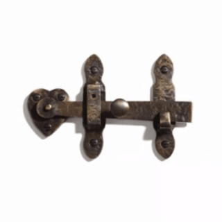 Bronze fence gate latch