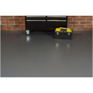 Garage roll-on flooring