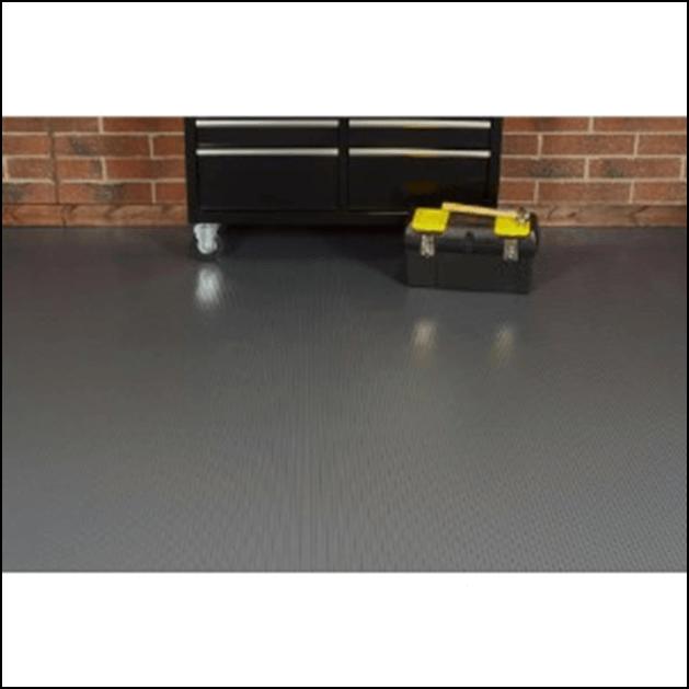 Garage roll-on flooring
