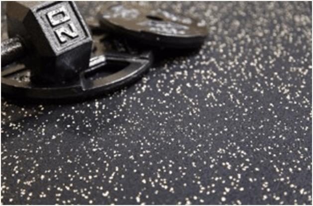 Rubber garage floor