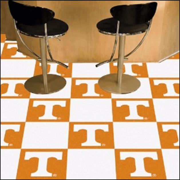 Carpet tile for garage flooring