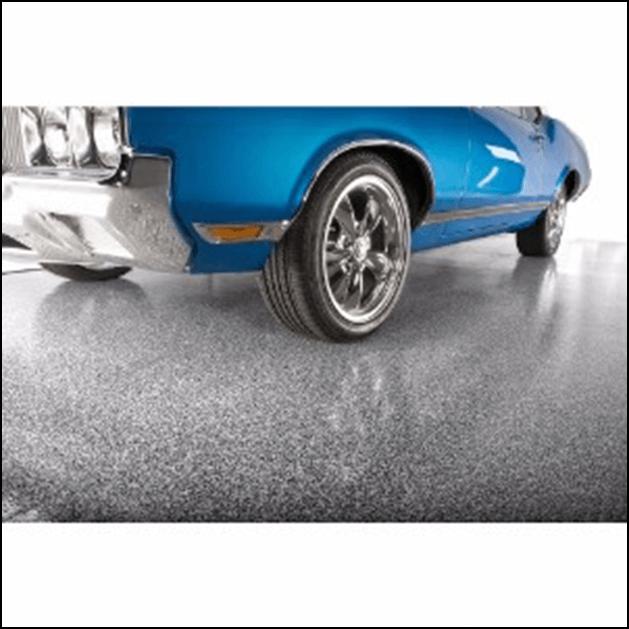 Vinyl garage floor