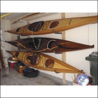 Kayak storage rack for the garage