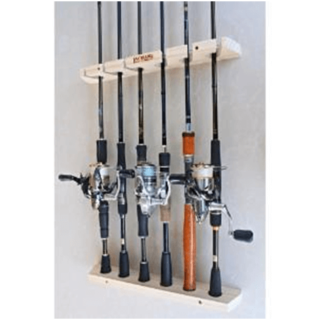 Fishing gear storage rack for the garage (wall mounted)