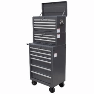 Full height tool storage cart and chest