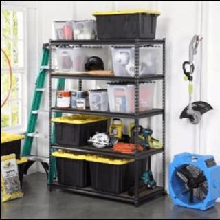 Free standing garage storage shelves