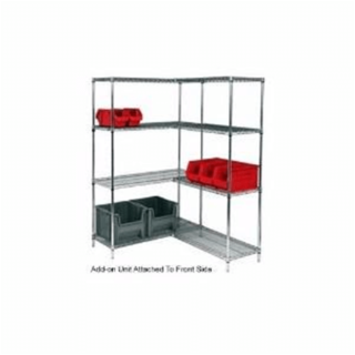 Modular add-on garage storage shelves