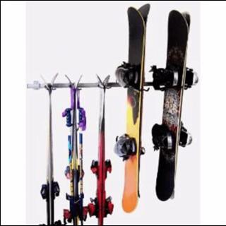 Ski and snowboard rack for garage (wall-mounted)