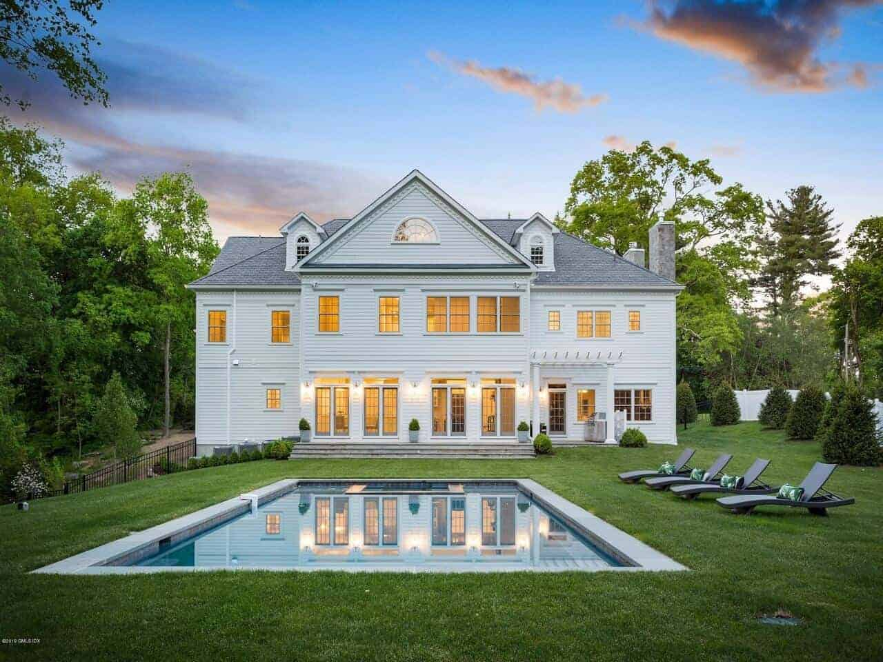 Transitional Georgian Style Colonial Home by Award Winning Architect Joseph Cugno