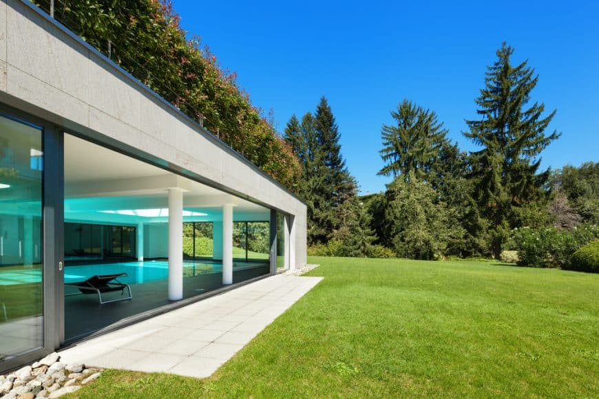 Modern house with concrete exterior
