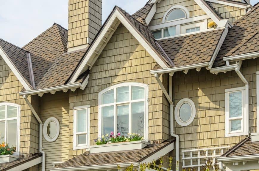 House with wood shingle siding