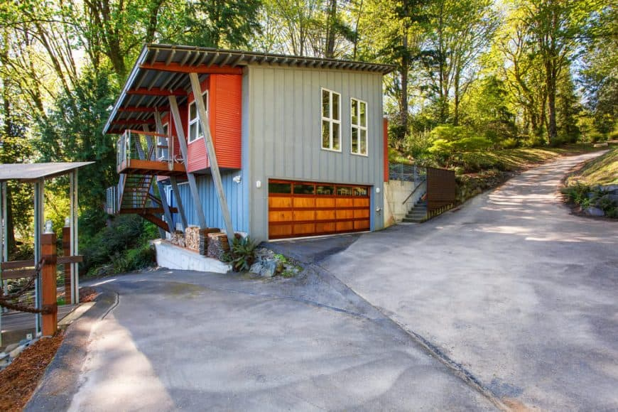 House with metal siding